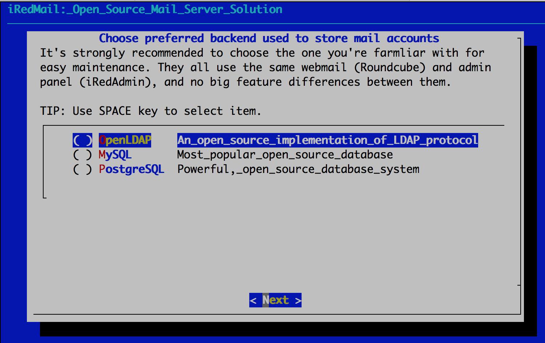 Install iRedMail on Debian or Ubuntu Linux