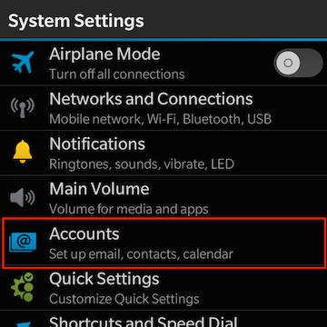 Exchange ActiveSync: Setup BlackBerry 10 devices