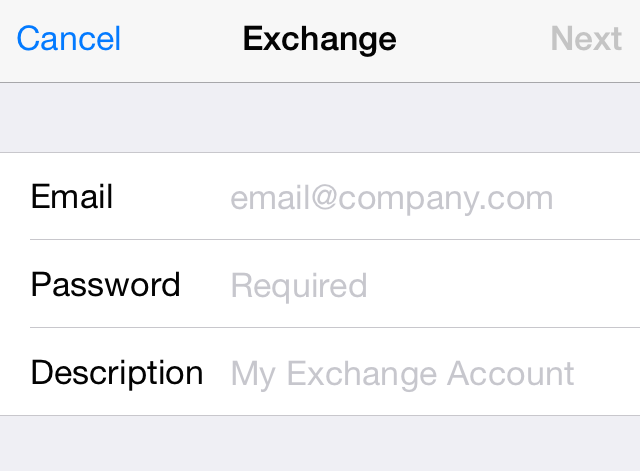 iphone exchange setup exchange activesync setup ios devices 9900