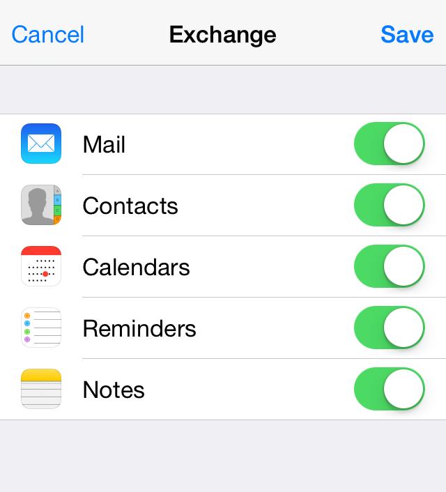 Exchange ActiveSync: Setup iOS devices